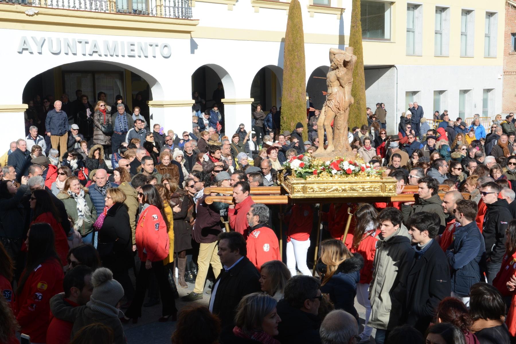 Procesión de las Fiestas de San Sebastián Mártir en 2019