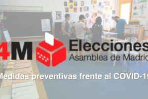 4M Elecciones Asamblea de Madrid: Medidas preventivas frente al COVID-19 durante la jornada electoral