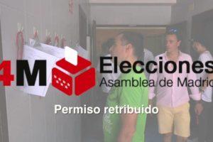 4M Elecciones Asamblea de Madrid: Permiso retribuido