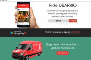 La app DBarrio para comprar en el comercio y la hostelería de Sanse