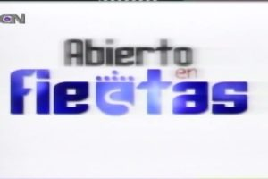 ABIERTO EN FIESTAS 30 DE AGOSTO DE 2002