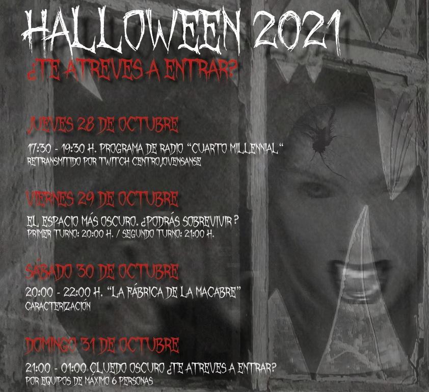 Cartel halloween juvenil 2021
